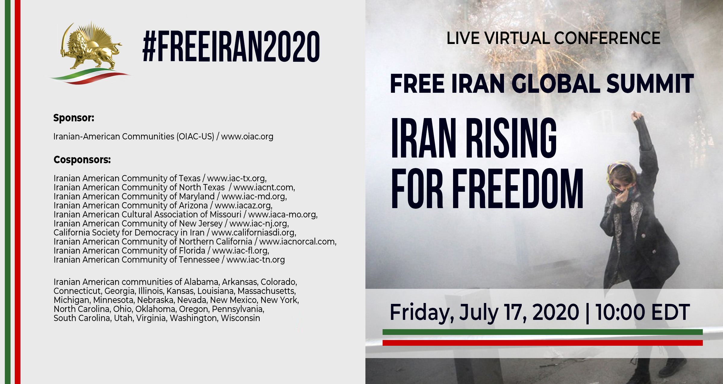 Live Virtual Conference Free Iran Global Summit